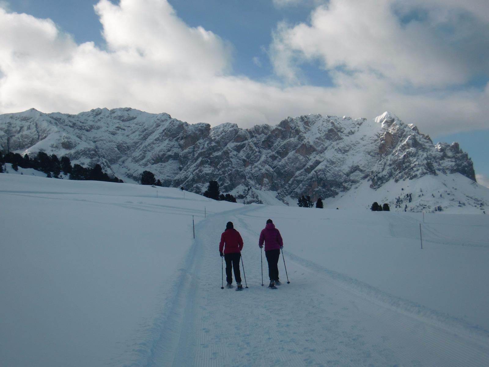 Ciaspolata con Tiberio nelle Dolomiti. Su prenotazione programma settimanale