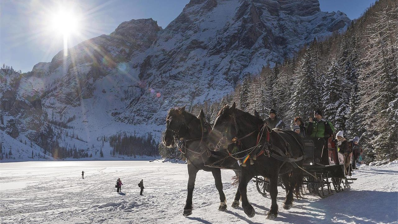 Event Sleigh ride at the Lake of Braies