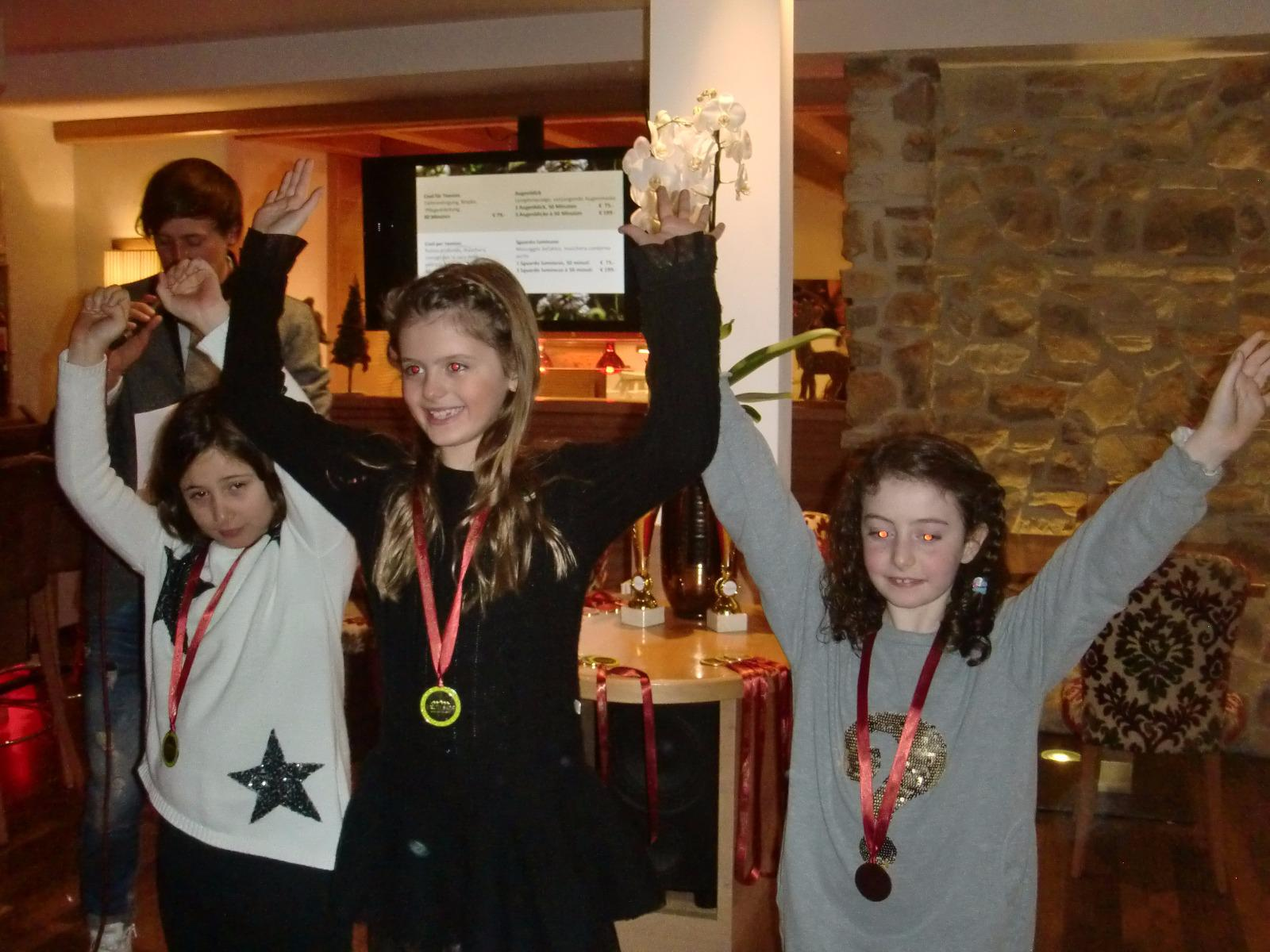 Prizegiving with the ski instructors week programm